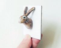 手工粘土 | 小兔图钉