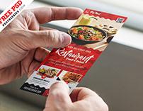 Restaurant Food Menu Card Free PSD