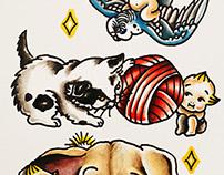 Kewpies & Baby Animals Flash