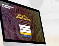 Metronom Music UI - UX Web Design