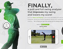 Blast Golf Replay, direct response landing pages