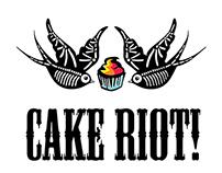 Cake Riot Gold Coast Logo Design
