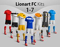 Lionart FC Kits 1-7