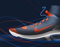 Nike running shoe design