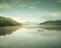 Boat on lake I