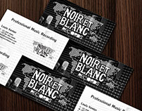 Noir et Blanc - Recording Label Logo Design