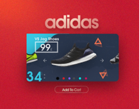 Adidas Ecommerce Cart Concept