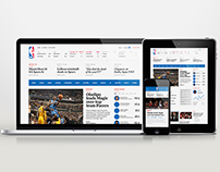 Website UI/UX Design for NBA Digital