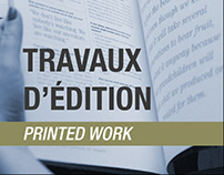 Travaux d'édition (printed work)