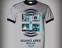 'Guano Apes' Offline Tour T-Shirt Design