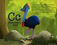 C is for Cassowary Bird
