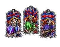 the grateful dead stained glass style(Big Wooly Design)