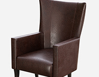 Ostrich Leather chair