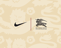 England by Nike x Burberry Football Jerseys