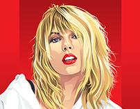 Taylor Swift Portrait Vector