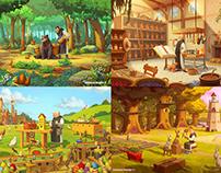 Design Personnages et environnements Pâques