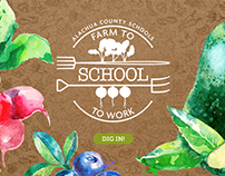 Farm2School Alachua County Rebrand