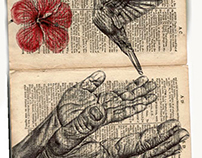 'echoes change (répète après moi)' Bic biro drawing on