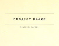 F212 Blaze Research Safari Itinerary