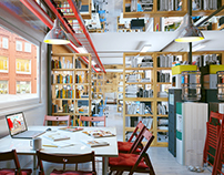 """Office design for architectural studio """"Inproject"""""""
