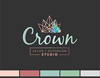 Crown Salon & Extension Studio Brand Identity