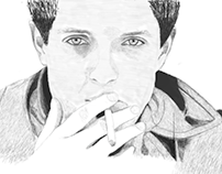 Portrait of Ian Curtis