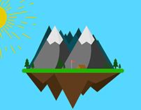 Floating Mountain Scenery