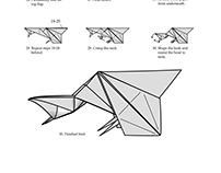 Origami Crow Diagrams