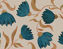 seamless pattern with cornflowers