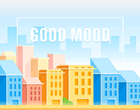 Urban design illustration good mood
