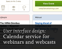 Calendar service for webinars and webcasts