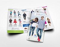 Fashion Catalog Tri-Fold Brochure Template