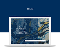 GoLaw · Law company · Corporate multi-page website