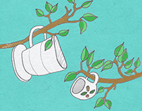 Coffee Illustration: Green Plantation (April) 2016