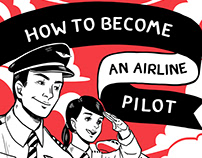 How to Become an Airline Pilot Infographic