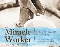 """The Miracle Worker"" Poster (Succop Theater)"