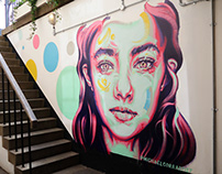 Candy Bar Portraits Mural