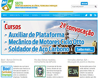 Site da SECTI - Wordpress