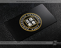 Black Metal Business Card with subtle Textured Finish