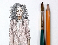 Fashion and accessories Watercolor Illustrations