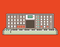 Moog Voyager - Vector Drawing