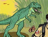 Seattle Met - Chris Pratt v.s. a T Rex