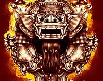 Bali Barong Digital Painting