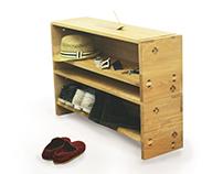 (College Portfolio) Shoe Rack re-design