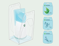 STEAM INHALER & REFILL PADS — Package Redesign