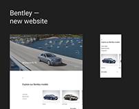Bentley - new website