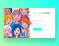 Let's makes friend. Login Page.