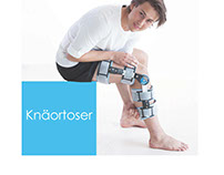 Brochure, knee products. Work for NordiCare, Viken.
