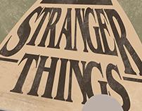 "Cartel Alternativo de la serie ""STRANGER THINGS"""