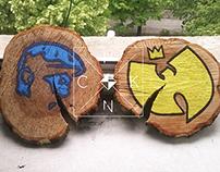 Art on piece of wood